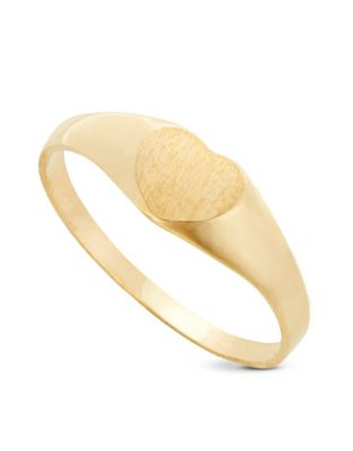 Fine Jewellery Children's 10kt Yellow Gold Ring - YELLOW - 4