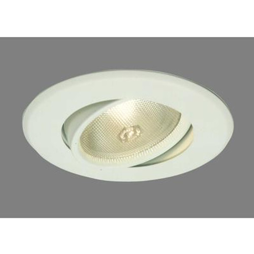 Adjustable Flush Gimbel PAR30 Trim Satin White-5 Inch Aperture
