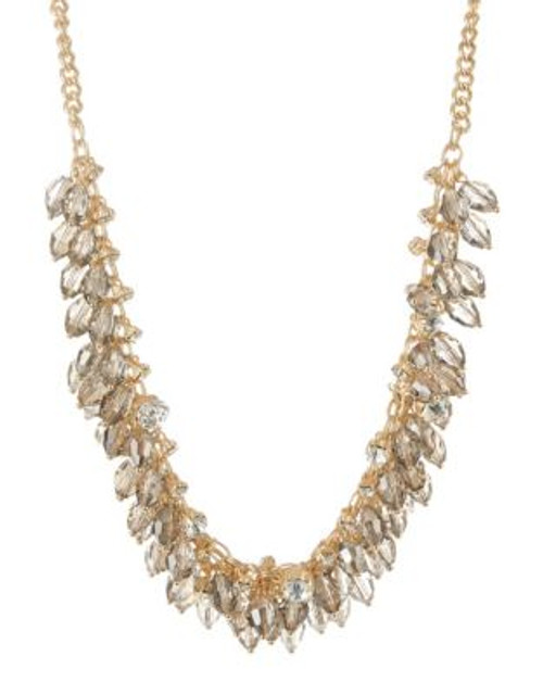 A.B.S. By Allen Schwartz Faceted Cluster Necklace - GOLD