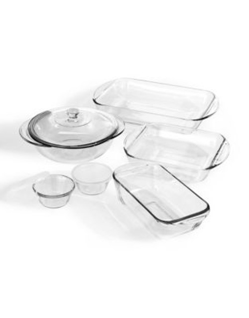 Anchor Hocking 9-piece bakeware set - CLEAR