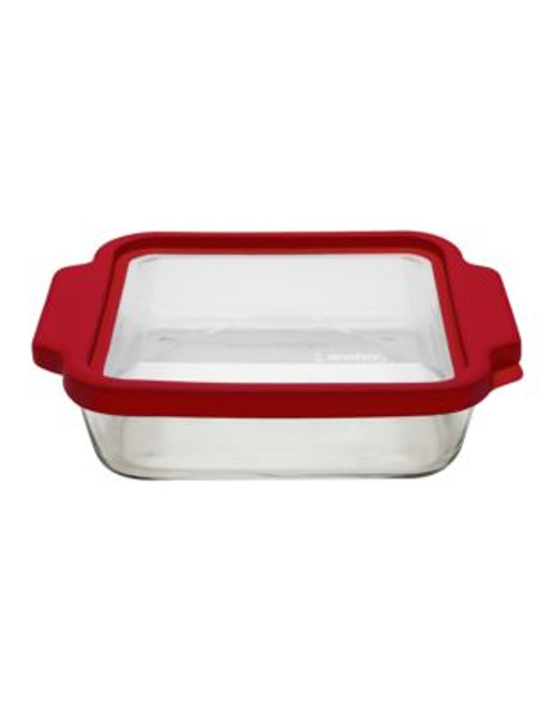 Anchor Hocking 8 inch Square Cake with TrueFit lid - CLEAR