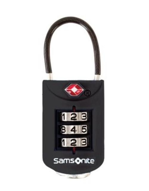 Samsonite 3 Dial Tsa Cable Lock - BLACK