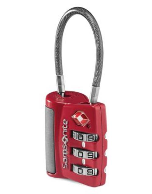 Samsonite 3 Dial Tsa Cable Lock - RED
