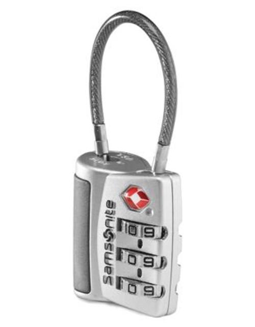Samsonite 3 Dial Tsa Cable Lock - SILVER