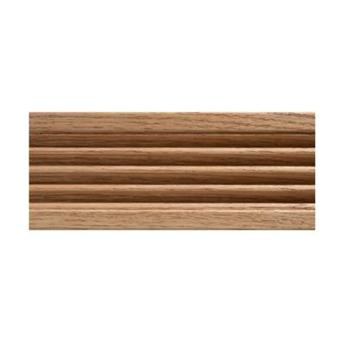 Oak Fluted Casing 15/32 x 3 - Sold Per 7 Foot Piece