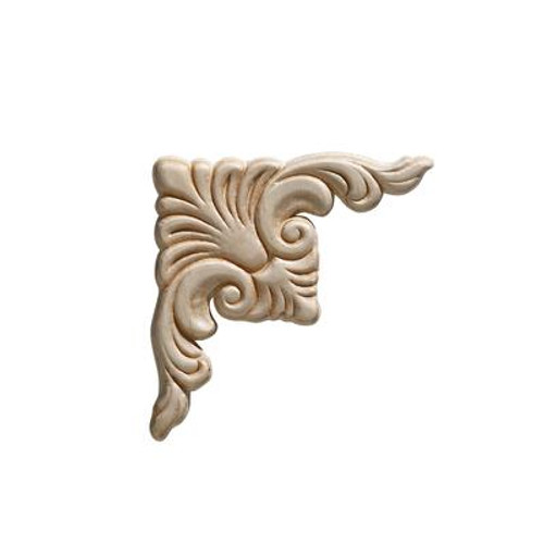 Embossed Acanthus Corner Wood Ornament 3-3/4 x 3-3/4 - 2 Pieces Per Card