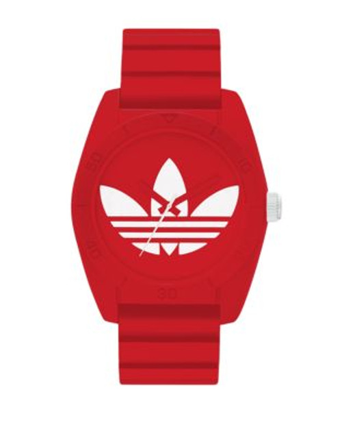 Adidas Santiago red silicone with white trefoil - RED