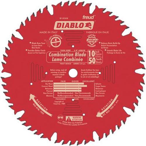 FREUD 10 In. Combo Blade - 50 Teeth