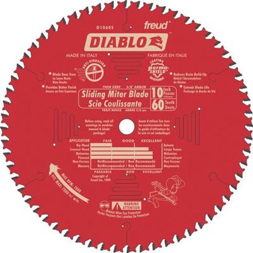 FREUD 10  In. Slide Mitre Blade - 60 Teeth