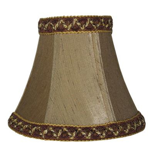 5 Inch Mocca Shantung Lamp Shade
