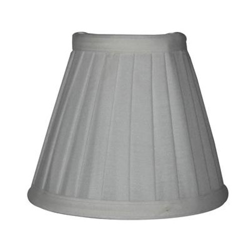 5.5 Inch Off-White Side Pleat Lamp Shade