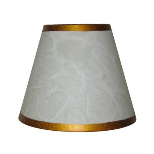 5.5 Inch White Parchment Lamp Shade