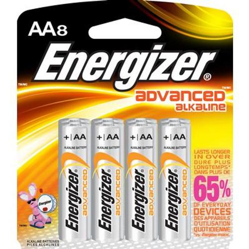 Advanced Alkaline AA Battery- 8 Pack