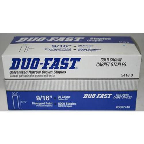 Duofast 9/16 Inch Carpet Staples