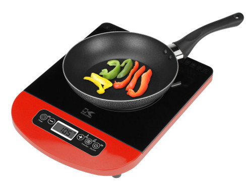 Red Induction Cooking Plate