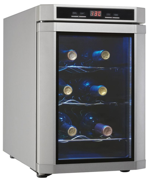 Maitre'D 6 Bottle Platinum Wine Cooler