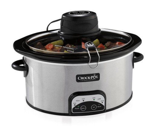 6.5 Qt Programmable Oval iStir Slow Cooker (Stainless Steel)
