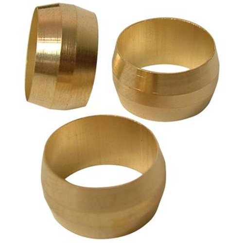 Brass compression Sleeve Less Insert (3/8 Inches)