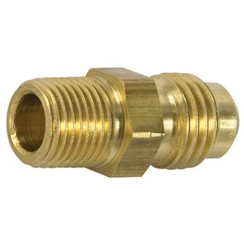 Brass Flare to Male Pipe Half Union (1/4 x 1/4)