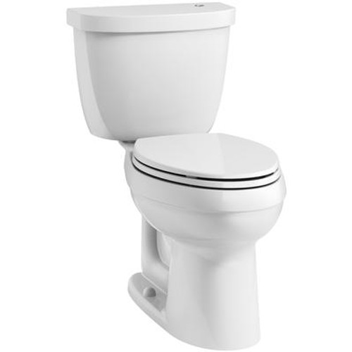 Cimarron Two Piece 1.28 Gal. Elongated Touchless Toilet in White