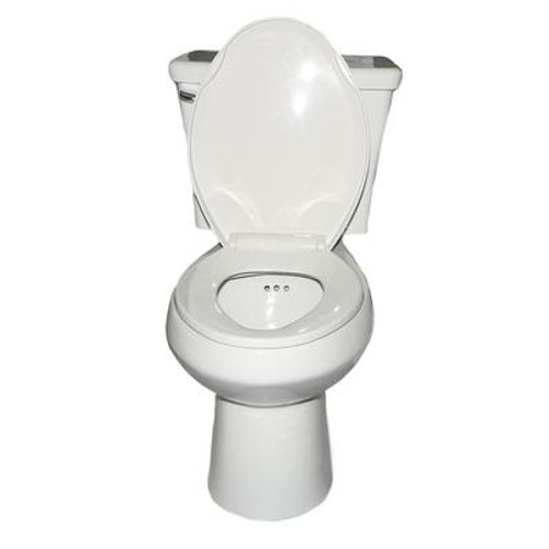 The PENGUIN in a BOX. All-in-one Toilet with a built in Secondary Drain System (Elongated Shape Bowl)