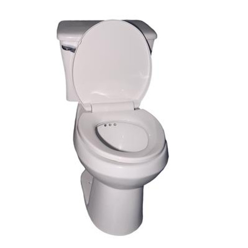The PENGUIN in a BOX. All-in-one Toilet with a built in Secondary Drain System (Round Shape Bowl)
