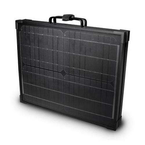 120-Watt Portable Monocrystalline Solar Panel for 12-volt Charging in Briefcase Design