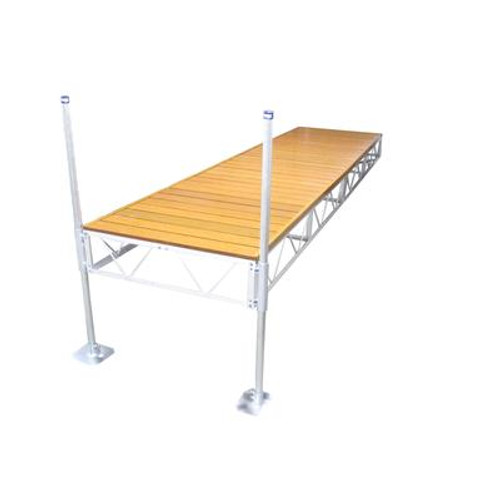 16 Feet  Straight Dock w/Aluminum Wood Grain Decking