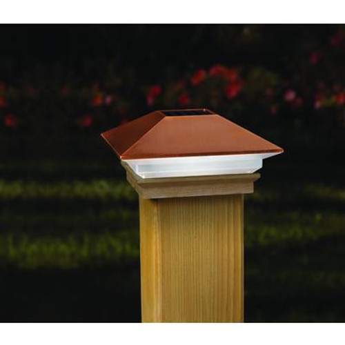 4x4 Post Cap - Copper LED Solar Light
