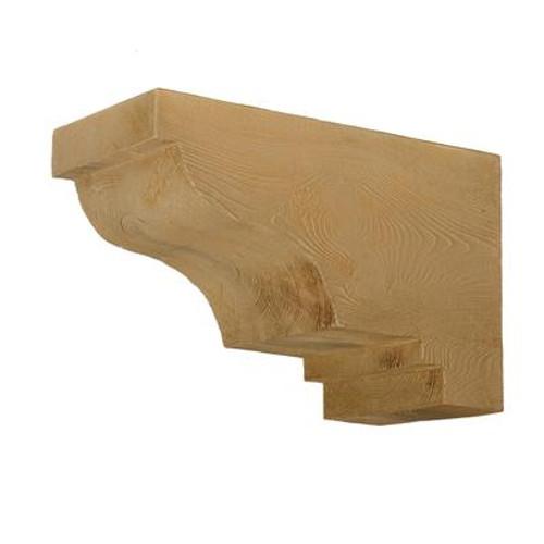 16 Inch x 10-1/2 Inch x 8 Inch Corbel Wood Grain Texture