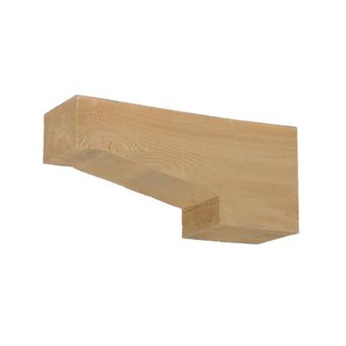 16 Inch x 7-1/4 Inch x 3-1/4 Inch Unfinished Wood Grain Texture Polyurethane Corbel