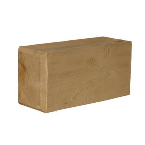 16 Inch x 8 Inch x 6 Inch Unfinished Wood Grain Texture Polyurethane Corbel