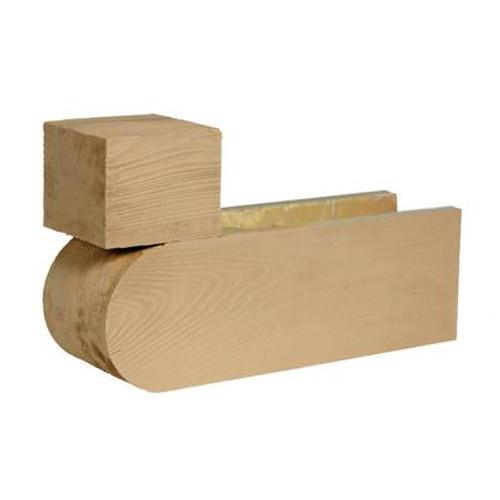21 Inch x 12 Inch x 6 Inch Unfinished Wood Grain Texture Polyurethane Corbel
