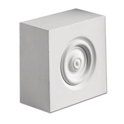 3-5/8 Inch x 3-5/8 Inch x 1-7/8 Inch Polyurethane Plinth Block Rosette