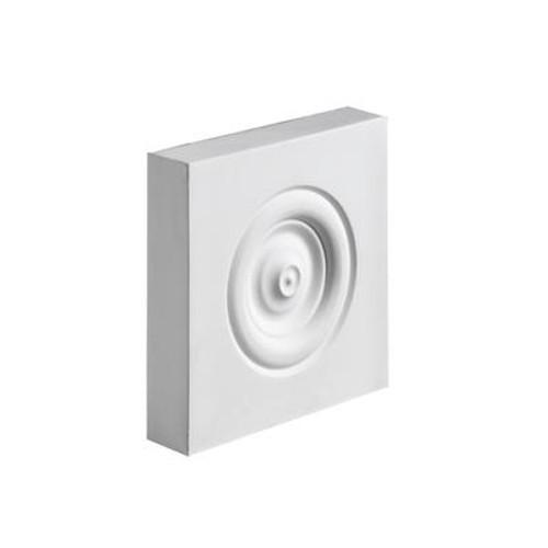 5-1/2 Inch x 5-1/2 Inch x 2 Inch Polyurethane Plinth Block Rosette
