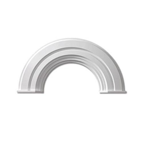 51 Inch x 29-1/2 Inch x 1-3/4 Inch Polyurethane Decorative Half Round Arch Trim