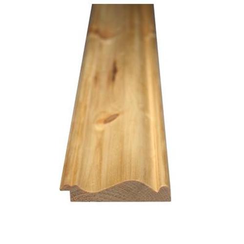 Knotty Pine Wainscot Cap 9/16 In. x 2-5/8 In. x 96 In.
