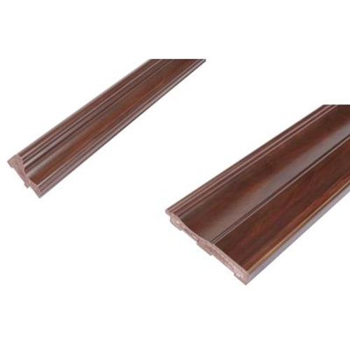 Chair Rail & Baseboard Kit - Prefinished Ready to Install - Fauxwood Cafe - 2 Pieces For 1/4 In. Wainscot Beadboard