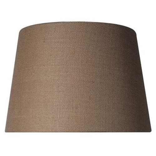Burlap Drum Shade
