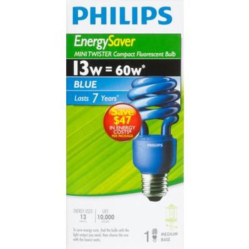 CFL 13W Mini Twister Blue - Case of 6 Bulbs