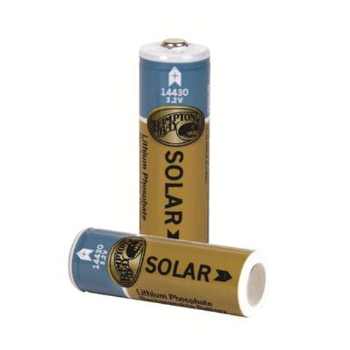 2 PacK 400mAh Lithium Phosphate Solar Rechargeable Batteries