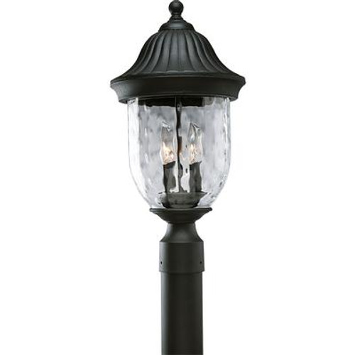 Coventry Collection Textured Black 2-light Post Lantern