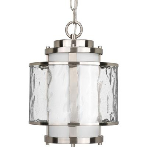 Bay Court Collection Brushed Nickel 1-light Hanging Lantern