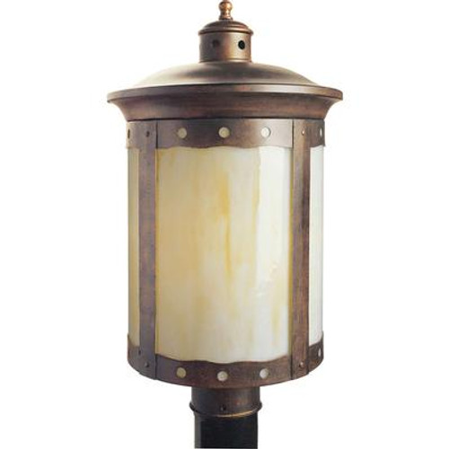 Burton 1 Light Rustic Sienna  Outdoor Compact Fluorescent Lighting Ceiling Light