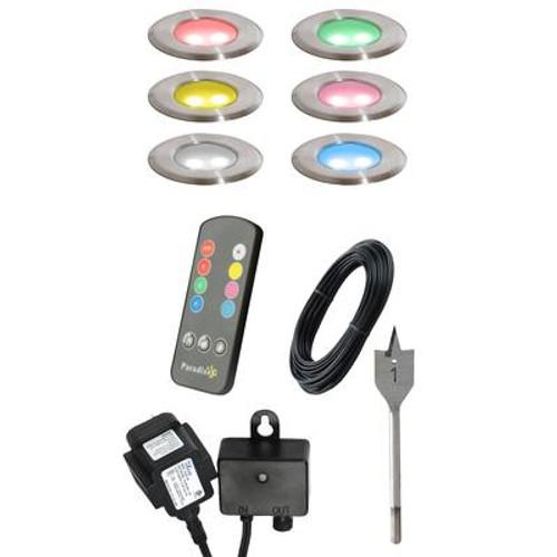 6pk Multi Color LED Deck Light Kit