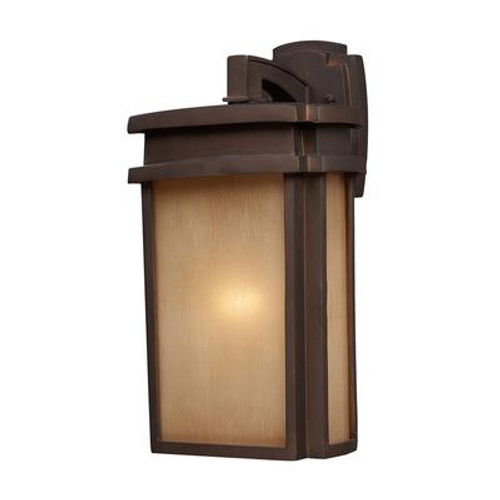 1-Light Outdoor Clay Bronze Wall Sconce