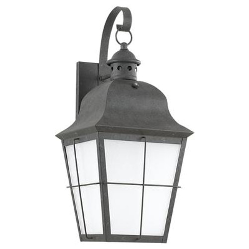 1 Light Oxidized Bronze Fluorescent Outdoor Wall Lantern