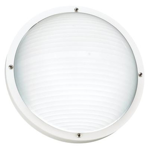 1 Light White Incandescent Outdoor Wall Or Ceiling Fixture