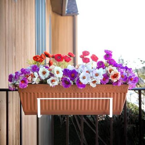 Deco Joe Adjustable Flower Box Holder in White