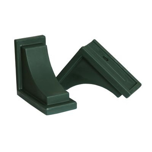 Nantucket Decorative Brackets Green - 2 Pack